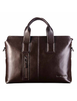 Mens Genuine Leather Business Case Briefcase